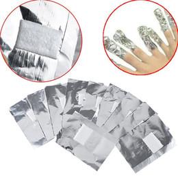 2018 100Pcs / Lot Алюминиевая фольга Nail Art Soak Off Акриловый гель для ногтей для снятия ногтей с помощью инструмента для снятия макияжа с хлопком для ногтей Nail Carel