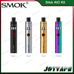 boné de caneta de vapor Desconto Authentic SMOK Stick Kit AIO 1600 mah Buit-in Bateria Com 2 ml Top-Cap Tanque De Enchimento Tudo-em-um Vape Caneta Sistema Resistente A Vazamento 100% Original