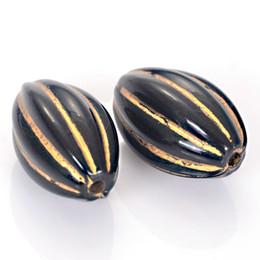30 pezzi 16x24mm acrilico striscia grande forma ovale plastica stile antico disegno distanziatore per gioielli fare supplier shaped plastic beads da perline in plastica fornitori
