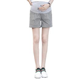 0827361a8 Pantalones cortos a cuadros Ropa de maternidad Pantalones sueltos de  cintura elástica para mujeres embarazadas Ocasionales Pantalones cortos del  vientre de ...