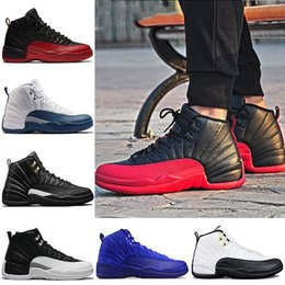 Wholesale martial arts universities - Designer 2018 Mens 12 Bulls University Blue 12s Basketball Shoes the Master Taxi Vachetta Deep Royal Sport Trainer Sneakers US 8-13
