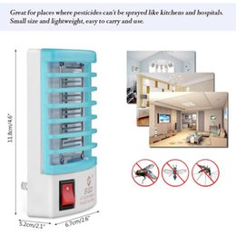 Wholesale mosquito killer zapper - New Mosquito Killer Lamps LED Socket Electric Mosquito Fly Bug Insect Killer Zapper Night Lights lighting EU US