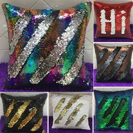 mermaid sequins pillow glamour cover Coupons - Double Sequin Pillow Case Cover Glamour Square Pillow Case Cushion Cover Home Sofa Car Decor Mermaid Pillow Covers Without core WX-P01