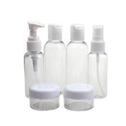 2019 conjunto de paquete de cosméticos 2019 botellas de Alta Calidad Encantadoras Nueva Botella de Cosméticos de Viaje Transparente Portátil Embotellado Seis Sistemas de envasado de botellas Dropshipping rebajas conjunto de paquete de cosméticos