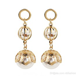 Wholesale jade ornaments china - Wish New Pattern Korea Fashion Ornaments Fashion Crystal Drop The Ball Pearl Ear Nail Earrings .