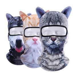 2019 máscara de sombrero de sol de hombres 3D Cat Animal Ear Balaclava Combat Bicicleta Caza Sombreros Snowboard Cap Party Halloween Winter Sun Máscara Completa Para Mujeres Hombres máscara de sombrero de sol de hombres baratos