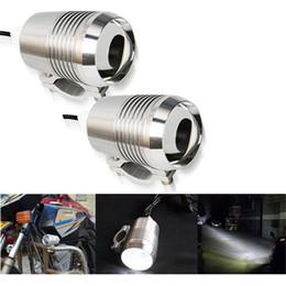 luzes de nevoeiro da frente Desconto 2 pcs Motocicleta Farol U2 1200LM 30 W Alto Baixo Flash de LED de Condução Nevoeiro Cabeça Ponto Lâmpada Luz Da Lâmpada Farol luz Dianteira
