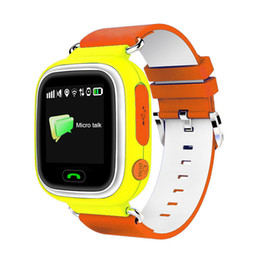 Wholesale watch phone touch screen wifi - Q90 GPS Smart Watch Baby Watch with Wifi Touch Screen IPS SOS Location Kid Safe Phone Fitness Sleep Pedometer Tracker For Android IOS Phone