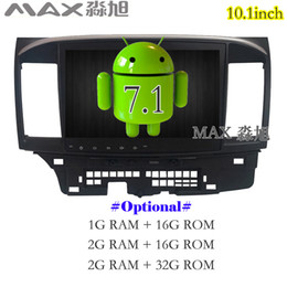 Wholesale Car Tv Screens Android - Android 7.1.1 Car DVD Player for Mitsubishi Lancer Car Radio RDS DAB+ GPS free map BT swc mirror link WIFI