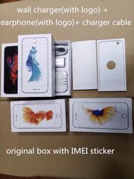 Accesorios originales para celular online-Venta al por mayor caja original del teléfono celular de calidad cajas vacías caja de embalaje al por menor para Iphone5 5s 6 6s 6s plus con accesorios completos