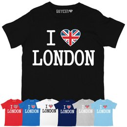 2019 t-shirts imprimés londres ULTIME I LOVE LONDON MENS UNION JACK COEUR T-SHIRT BRITANNIQUE IMPRIMÉ promotion t-shirts imprimés londres