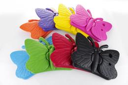 Kinder shockproof ipad fall online-Für Kinder 3D Cartoon Stoßfest Schmetterling Fall Beste EVA Weiche Stander Für iPad 234 iPad Air iPad Mini 9 Farben