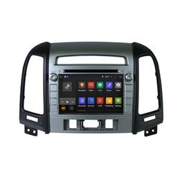 Espejos de cámara gps online-Pantalla táctil Android 8.0 Reproductor GPS DVD para coche para HYUNDAI Santa Fe SantaFe 2012 Radio 4G + 32G Enlace reflejado Bluetooth Wifi 1024 * 600 Cámara MAP