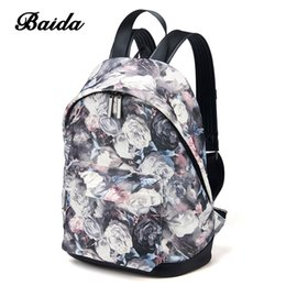 737aa57574ac BAIDA Fashion Women Backpacks Cool Floral Print Laptop School Book Bags  Travel Leisure Backpack for Girls Bookbag Rucksack