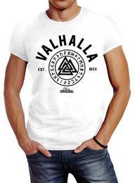 2019 chemise vikings Herren T-Shirt Valhalla Runen Vikings Wikinger Coupe Slim Neverless® Funny expédition gratuite Unisex Casual tee tee promotion chemise vikings