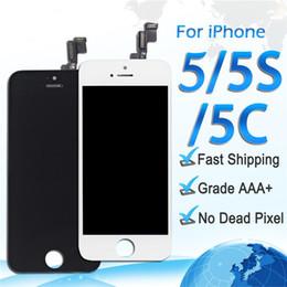 2019 reparar reparo xperia Display lcd de alta qualidade para o iphone 5 5s 5c digitador da tela de toque assembléia completa substituição de peças de reparo frete grátis dhl