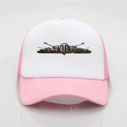 modèles de débardeurs femme Promotion Derniers jeux top model World Of Tanks Impression casquette de baseball casquette Homme et femme Casquette tendance Summer New Youth Joker chapeau de soleil