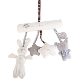 Wholesale Bell Seats - CIKOO Baby Toys Rabbit Baby Music Hanging Rattles Seat Plush Toy Hand Bell Multifunctional Plush Toy Stroller Gifts