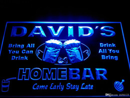 Wholesale Home Light Decoration - DZ001-b Name Personalized Home Bar Beer Family Name Neon Light Sign