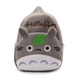 Totoro saco infantil on-line-Miúdos Saco de Escola Totoro Crianças Mochila Meu Vizinho Totoro para 1 a 3 Anos de Idade Miúdo Dos Desenhos Animados Mochila De Pelúcia Sacos de jardim de Infância