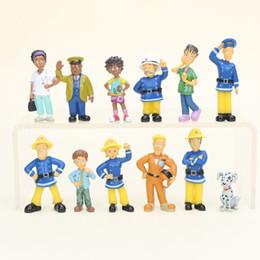 Pompier sam jouets en Ligne-2 .5 -6 cm 12 pcs / Set Pompier Sam Mignon de Bande Dessinée Pvc Action Figure Jouets Poupées Pour Enfants Cadeau De Noël