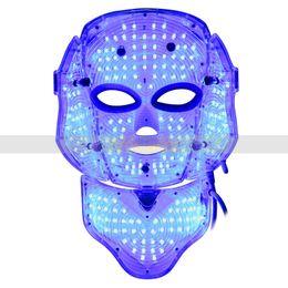 masque léger pour le visage et le cou 3 couleurs rouge bleu led masque léger rajeunissement de la peau resserrement de la peau acné enlèvement spa maison salon utilisation machine ? partir de fabricateur