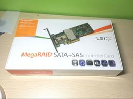 controladores sata Desconto Novo LSI MegaRAID 9261-8i 8 portas PCI-E 6 Gb / s SATA / SAS Controlador RAID