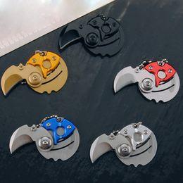 regalos patriotas Rebajas Mini cuchillo plegable de monedas EDC Easy Carry Tool Pequeño cuchillo de bolsillo llavero con colgante llavero de regalo supervivencia herramientas al aire libre