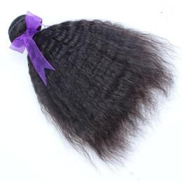 Canada Kinky Straight Hair Weaving 100% de couleur noire Bundles de tissage de cheveux humains Indien Non-Remy 1 Pièce de tissage de cheveux cheap indian kinky straight Offre