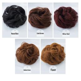 Hair Buns Extensiones de cabello humano para mujeres Ondulado rizado Donut Peinados para el cabello Scrunchy Scrunchie Updo Hairpiece desde fabricantes