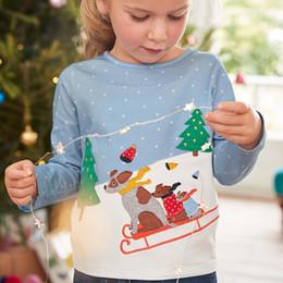 Wholesale preppy blouse - Girls T-Shirt 2018 Autumn Brand Baby Girls Full T-Shirt Cute Cartoon Rabbits Cotton Shirts Children Clothing Blouse