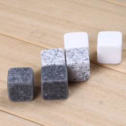 natural 6pcs Natural Wine Cooler Sipping Ice Cube Stones for Whiskey Christmas Bar Accessories