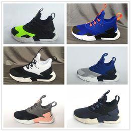 34d5385b296b2 2018 Hot sale children Air Huarache IV 4.0 Ultra Running shoes Huraches  boys girls shoes baby kids Triple Huaraches sneakers on sale