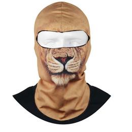 Wholesale Protecting Animals - NewThin 3D Skullies & Beanies Balaclava Neck Hood Full Face Mask Hat Beanie Animal pattern Hats Protect Full Face best gift #yl