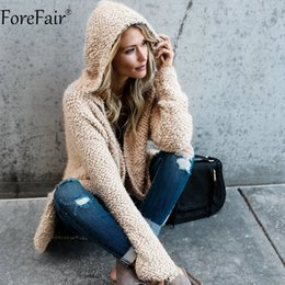ForeFair Autumn Winter Thick Knitted Hooded Long Cardigans Plus Size  Outwear Pink White Khaki Gray Casual Sweater Women thick hooded cardigan  sweater on ... 0e6e1e4ee