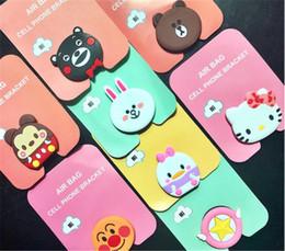 Pato móvil online-3D Cute Rabbit Bear Duck Chicken Kitty Air Bag Phone Soporte de expansión Soporte de dedo de silicona para el teléfono móvil universal DHL libre