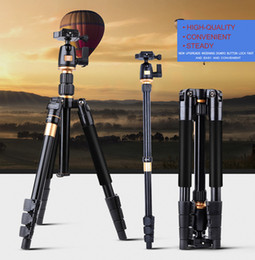 Wholesale Alloy Quick Release - Professional Camera Tripod QZSD Q555 Aluminium Alloy Camera Video Monopod Extendable Tripod With Quick Release Plate Stand by dhl