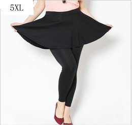 Wholesale Women Skirt Pant Leggings - Plus Size Cashmere Imitation Leggings Women Spring Pants Large Pleated Skirt high quality New Leggings Wear to work 5XL