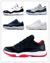 Wholesale good outlets - New style good Navy Blue White Men Basketball Shoes 11s Factory outlet series 11 XI Low UNC Sports outdoor Sneakers walking like mike