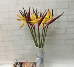 Wholesale Artificial Birds - Real Touch Bird of Paradise Flower About 57cm length Tropical Flower Artificial flower Bird of Paradise free shipping PF015