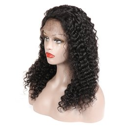 2021 lunghe parrucche ricci a buon mercato Cheap Brazilian Virgin Hair Lace Front WIgs Kinky Curly Wigs with Baby Hair Peruvian Malaysian Human Hair Long Curly Wig for Black Women