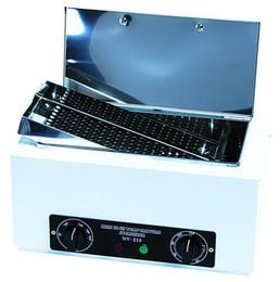 beleza jp Desconto Esterilizador De Alta Temperatura Para A Beleza Tesoura De Manicure Ferramenta Desinfecção De Ar Quente Com A Caixa De Tanque De Aço Inoxidável Removível UV Box NV-210