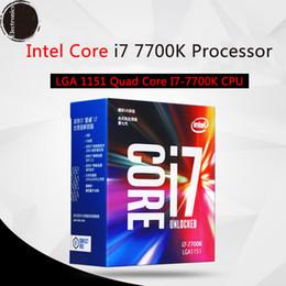 Wholesale Intel I7 Desktop - Original for Intel Core i7 7700K Processor 4.20GHz  8MB Cache Quad Core  Socket LGA 1151   Quad Core  Desktop I7-7700K CPU