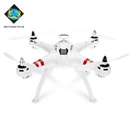 Helicóptero rc 4ch sin escobillas online-BAYANGTOYS Drone GPS Brushless Motor RC Quadcopter RTF 2.4GHz 4CH 6Axis Retorno automático 360 Degree Flip Mini Drones RC Helicóptero Hot + NB