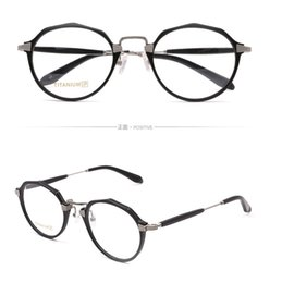3a026a642cd Unique New designer women optical glasses retro acetate with metal titanium  frame ultra-light transparent lens frame top quality with case