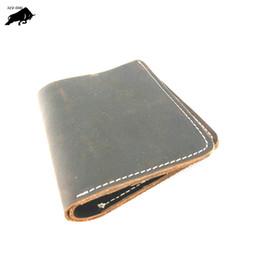 animal card clip UK - Genuine Leather Men Wallets Men Wallet Clutch Vintage Male Purse Short Wallet Money Clip Purses Leather Purse Wallets