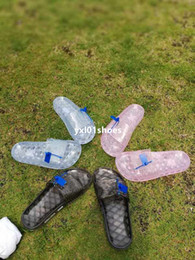 Wholesale Spring Jelly Flat Shoes - 2018 New Arrival Rihanna Fenty Jelly Slippers Women Sandals Summer Shoes Fashion Slides DHL Free in stock 36-40