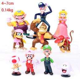 Bonecas para bolos on-line-Super Mario Escritório Mão Luigi Valio Princesa Peach Mushroom Man Orangutan boneca Cake Decoration melhores brinquedos para criança V 001