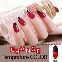 Wholesale Wholesale Color Changing Nail Polish - Wholesale- Fashion Temperature Change Color nail gel polish UV Gel Nail Polish Long Lasting Soak Off Gel Nail Varnish