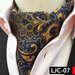 2017 Homem Único Designer de Ascots de Luxo Paisley Collar Lenço para Decoração de Casamento Banquete de Fornecedores de arco musical